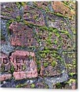 Sidney Island Brick  Acrylic Print