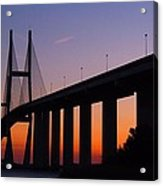 Sidney Lanier Bridge At Sunset Acrylic Print