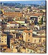 Siena Rooftops Acrylic Print