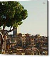 Sienna Skyline Acrylic Print by Barbara Stellwagen