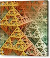 Sierpinski Triangles Acrylic Print