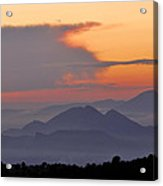 Sierra Elvira Mountains At Sunset Acrylic Print