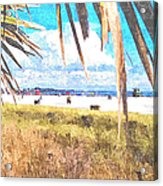 Siesta Key In Fall Acrylic Print