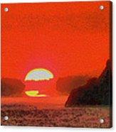 Sifnos Sunset Acrylic Print