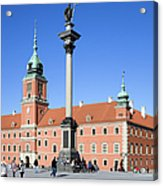 Sigismund's Column And Royal Castle In Warsaw Acrylic Print