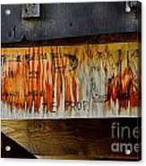 Sign Of The Times Acrylic Print