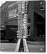 Sign Post In Crossville Tennessee 1939 Acrylic Print