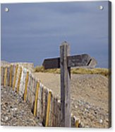 Sign Post To Nowhere Acrylic Print