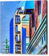Sign - The Blue Room - Jazz District Acrylic Print