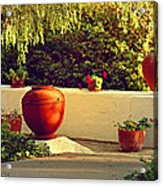 Signed Art Focal Point Outdoor Pottery Acrylic Print
