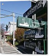 Signs Greenport New York Acrylic Print