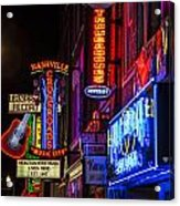 Signs Of Music Row Nashville Acrylic Print