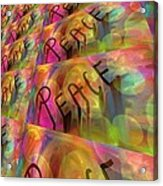 Signs Of Peace X Acrylic Print