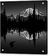 Sihlouette With Tipsoo Acrylic Print by Mark Kiver