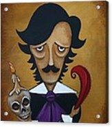 Silence A Poe Caricature Acrylic Print