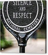 Silence And Respect Acrylic Print by Steve Gadomski