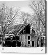 Silent Barn In The Winter Acrylic Print