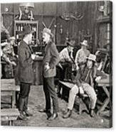 Silent Film Still: Cowboys Acrylic Print
