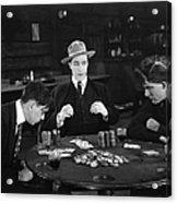 Silent Film Still: Gambling Acrylic Print
