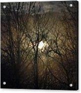 Silent Foggy Sunrise Acrylic Print