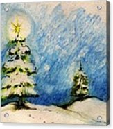 Silent Night Holy Night Acrylic Print