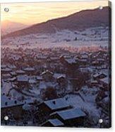 Silent Winter Sunset  Acrylic Print