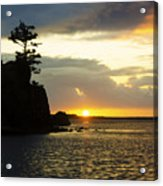 Siletz Bay Sunset Oregon 1 Acrylic Print