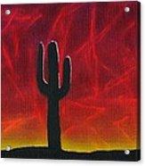 Silhouette Cactus Acrylic Print