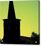 Silhouette Church Acrylic Print