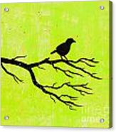 Silhouette Green Acrylic Print