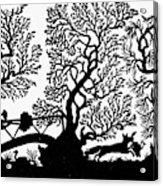 Silhouette Hunting Acrylic Print