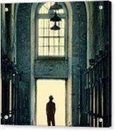 Silhouette In Doorway Acrylic Print
