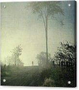 Silhouette Of A Man In Fog Acrylic Print