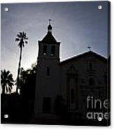 Silhouette Of Mission Santa Clara Acrylic Print