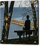 Silhouette On The Hill Acrylic Print