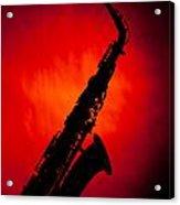 Silhouette Photograph Of An Alto Saxophone 3357.02 Acrylic Print