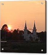 Silhouette Scenery Of Saint Anna Nongsang Catholic Church Acrylic Print
