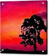 Silhouette Sunset H A Acrylic Print