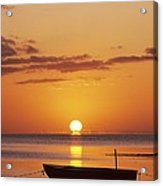 Silhouetted Boat Acrylic Print