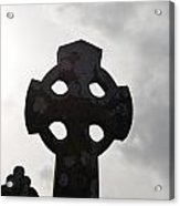 Silhouetted Celtic Cross Acrylic Print