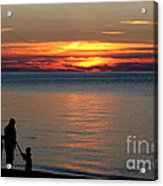 Silhouetted In Sunset At Sturgeon Point Marina Acrylic Print