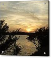 Silhouettes Of Sunset Acrylic Print
