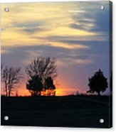 Silhouetts Of A Sunset Acrylic Print