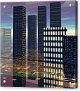 Silicon City Acrylic Print
