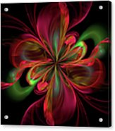 Silk Butterfly Abstract Acrylic Print