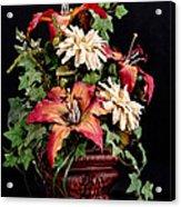 Silk Flowers Acrylic Print by Jeff Burton