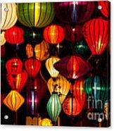Silk Lanterns In Vietnam Acrylic Print