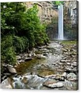 Silken Water Summer Waterfall Acrylic Print