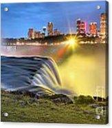 Silky Niagara Falls Panoramic Sunset Acrylic Print