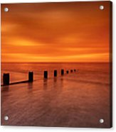 Silky Sunrise Acrylic Print by Mark Leader